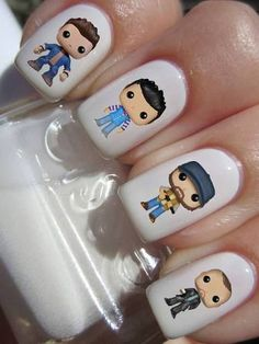 Dandelion nail art is a popular flower nail art around the world with young ladies always eager at getting cute nail art designs Cute Nail Art Designs, White Nail Designs, Nail Designs Spring, So Nails, Pretty Nails, Hair And Nails, Supernatural Nails, Dolphin Nails, Dandelion Nail Art