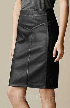 Etro Paneled Leather Skirt - # 416 - 50 Colors $89.00