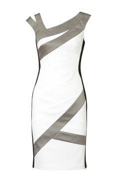 Karen Millen Colourblock Dress White and Multi - Karen Millen Dresses - $86.19