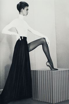 """A Head for Business and a Body for Sin"", Karlie Kloss photographed by Roe Ethridge in Acne Paper Winter 2012, fashion photography, fashion editorial, fashion, pose, model, black and white"
