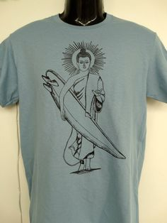 Find Your ZEN! I Love this Budha/Surfer shirt, the latest from AMRON Designs. Get yours today on Etsy! Follow the link!