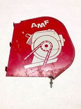 AMF Outboard Engine Motor Guard American Machine Foundry Boat Metal Sign