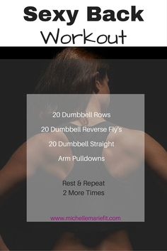 Back fat workout. Lose the back fat with these exercises you can do at home & tone the back so it looks sexy.  http://michellemariefit.com/back-fat-workout/