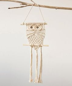Love this Owl Cotton Macrame Wall Hanging on #zulily! #zulilyfinds