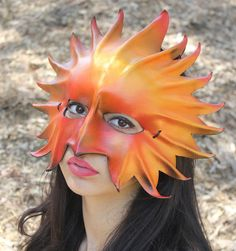 OOaK Sunburst Leather Mask Oddfae by Schiller by masquerfae, $85.00