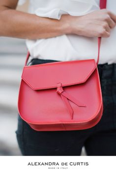 Are you looking for a designer leather handbag? Click through to check out the red Mini Saddle, handmade in Italy with smooth Italian Leather Handbags, Designer Leather Handbags, Style Inspiration, Purses, Luxury, Mini, Red, Handbags, Wallets