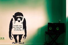 Wandtattoo BANKSY - MONKEY - Affe in schwarz - ein Designerstück von UrbanARTBerlin bei DaWanda