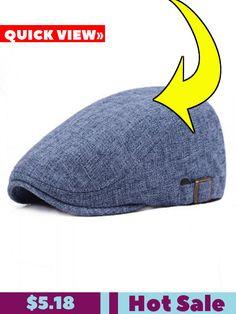 5f52e4617ec Cotton and Linen Outdoor Travel Beret. Hats For Men