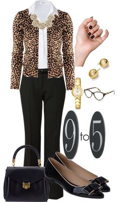 """""""Yesterday's 9 to 5"""" by mrsrutledge1810 ❤ liked on Polyvore"""