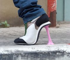"""Ladies... GO snag a pair of these for the coolness factor. """"I STEPPED IN GUM HEELS"""""""