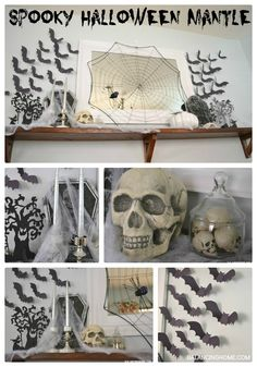 Spooky Halloween Mantle from Balancing Home
