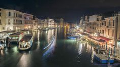 venice by night from the rialto bridge by alisonjonesphotography