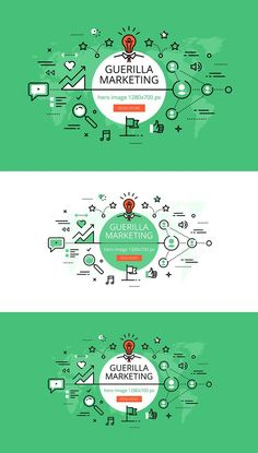 Guerrilla Marketing hero banners. Web Elements. $5.00