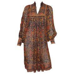 Ritu Kumar for Judith Ann Hand Block Printed Silk Dress Boho Style Dresses, Boho Outfits, Fashion Outfits, Fashion Ideas, Color Combinations For Clothes, Ritu Kumar, Dress Out, Boho Fashion, Fashion Design