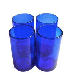 Cobalt Glasses, $48 for four