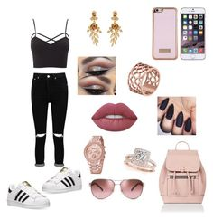 """Yassss"" by explorer-147282867810 ❤ liked on Polyvore featuring beauty, Charlotte Russe, Boohoo, adidas, Accessorize, Ted Baker, Tory Burch, Oscar de la Renta, Allurez and Tartesia"
