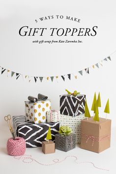 5 creative #gift topper ideas @houselarsbuilt - the holly one is perfect for christmas