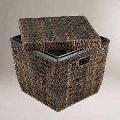 Madras Cube - World Market by Cost Plus World Market. $79.99. Madras, an exceptionally durable, naturally harvested Abaca fiber from the Philippines is handcrafted by basket makers using traditional techniques. Darkly hued cube provides attractive storage solution for anywhere in the house.