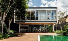 Modern Wood House With Pool In Sao Paulo