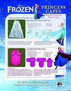 Frozen Elsa DIY princess cape