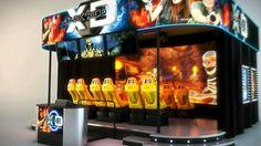 """TrioTech XD Dark Ride, 7Di interactive theatre, film: """"Forbidden Mine"""" at EAS London 2011."""
