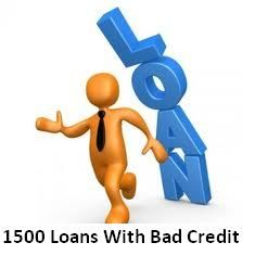 1500 loan with bad credit are right financial solution for immediate necessities of bad credit individuals without any lengthy procedure.