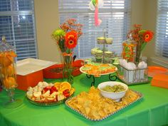 green and orange baby shower - Bing Images