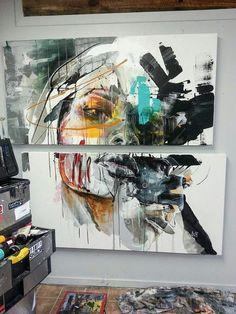 mug art Sandy Cunningham Painting Inspiration, Art Inspo, Mug Art, Arte Pop, Graffiti Art, Graffiti Painting, Portrait Art, Portraits, Modern Art
