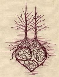 trees straight and tall with love intertwined in it's roots.