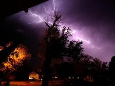 """Lightning strikes North Texas"" - Angie Mobley, #Mashpics #Weather"