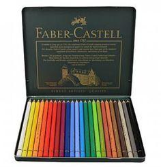 Faber Castell Polychromos Color Pencil Set - 120 Pencils in Metal Tin Faber Castell, Pastel Pencils, Colored Pencils, Unique Colors, Vibrant Colors, Photography Supplies, Artist Materials, Polychromos, Metal Tins