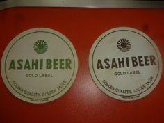 EN. aug JAPAN NIPPON ASAHI beer coaster  NR65 Beer Mats, Beer Coasters, Gold Labels, Asia, Japan, Ebay, Okinawa Japan, Beer Bottle Caps
