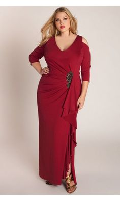 Igigi Margarita Gown In Red Mother Of The Groom Navy Color Plus Size