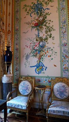 Wallpaper Panels. Pavlovsk palace, Saint Petersburg, Russia