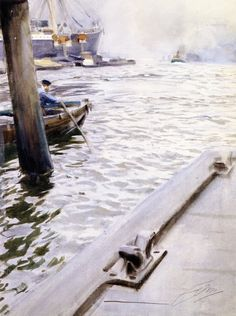 Anders Zorn - In the port of Homburg (1890)