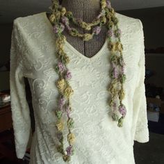Handmade Crochet Scarf Skinny Long Multipurpose by GypsythatIwas, $24.00
