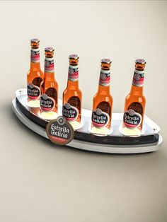 Display 5 botellas - Estrella Galicia Ketchup, Bottle, Food, Display Stands, Point Of Sale, Stars, Pos, Flask, Essen