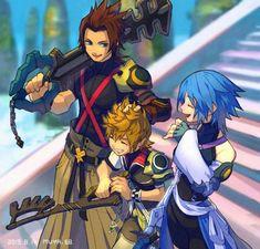 Terra Kingdom Hearts, Kingdom Hearts Games, Kingdom Hearts Fanart, Kingdom Hearts Ventus, Cry Anime, Anime Art, Kindom Hearts, Girls Anime, Vanitas