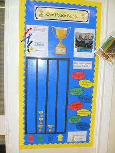 House points Class Displays, School Displays, Classroom Displays, Classroom Themes, Classroom Incentives, Classroom Behavior Management, Classroom Organisation, Organization, Ecosystems Projects