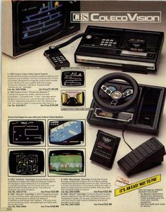 from Argos 1983 Autumn/Winter Vintage Video Games, Classic Video Games, Retro Video Games, Vintage Games, Vintage Toys, Radios, Retro Arcade Games, Playstation, Video Game Rooms