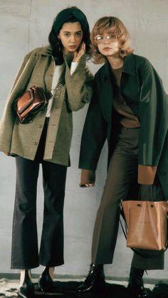 Image Fashion, Look Fashion, 90s Fashion, Winter Fashion, Fashion Outfits, Uniqlo Fashion, Casual Asian Fashion, Looks Style, Looks Cool