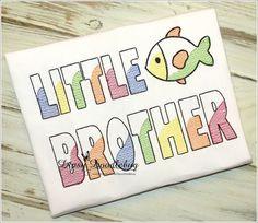 Little Brother Shirt- Birth Announcement Shirt- Sibling Shirt- Custom Brother Shirt