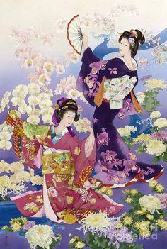 浮世絵には美人画というジャンルがあり、江戸時代の喜多川歌麿の作品はその代表格ではないでしょうか。今回紹介する作品は美人を追求したかのようなパーフェクトな着物女性が描かれた作品。顔・立ち振る舞い・スタイルすべて美しいのです。色がとても鮮やかな…