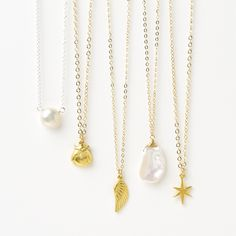 charm and pearl necklaces on chain #givedogeared