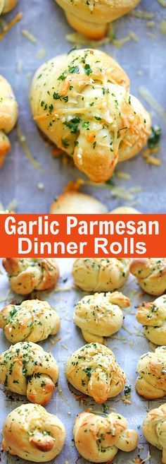 Garlic Parmesan Dinner Rolls – homemade bread dough turned into the best dinner rolls with garlic and Parmesan cheese. So good | rasamalaysia.com
