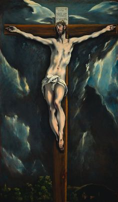 """El Greco, Christ on the Cross million new institute for Spanish art in Bishop Auckland to """"stand up against any museum in world"""" Spanish Painters, Spanish Artists, Painting Words, Painting & Drawing, Cross Art, Creta, The Cross Of Christ, Cleveland Museum Of Art, Jesus Cristo"""