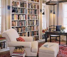 Great Corner Bookshelf decorating ideas for Home Office Traditional design ideas with Great beige armchair beige