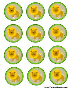 Free!!! Jungle themed baby shower printables