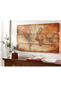 Achat en ligne de Tableau 'mappemonde' - multicolore | Jelmoli-Shop