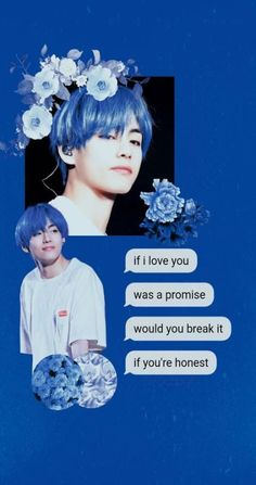 New Taehyung Blue Aesthetic Wallpaper 63 Ideas Blue Hair Aesthetic, Flower Aesthetic, Jimin, Bts Taehyung, K Pop, Tumblr Flower, Disney Background, Jungkook Aesthetic, Bts Aesthetic Pictures